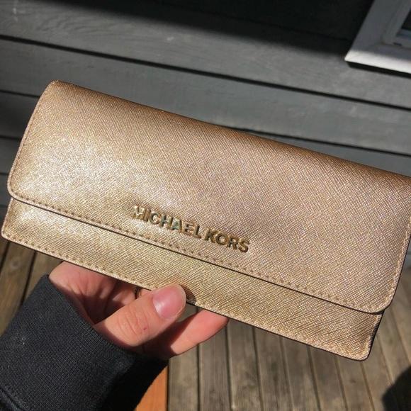 Michael Kors Handbags - MICHAEL KORS gold wallet